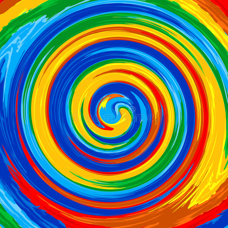 Fond d'abrégé sur peinture de couleur d'éclaboussure d'arc-en-ciel de remous d'art illustration de vecteur