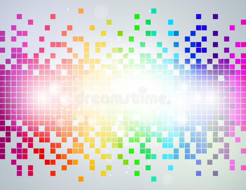 Fond d'abrégé sur pixel d'arc-en-ciel illustration stock