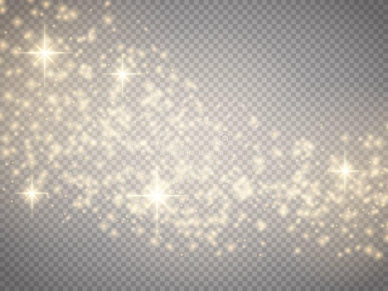 Fond d'abrégé sur vague de scintillement d'or de vecteur Fond magique illustration libre de droits
