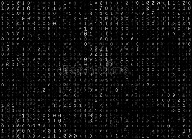 Fond d'abrégé sur vecteur de code binaire illustration de vecteur