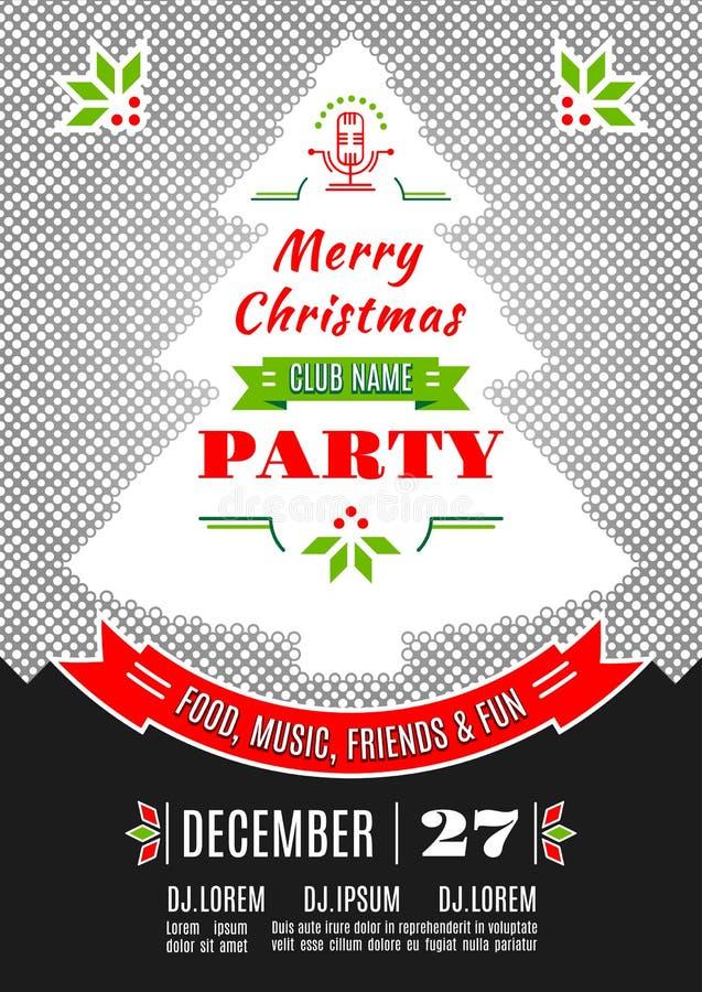Fond d'abrégé sur vecteur de conception d'affiche de fête de Noël illustration libre de droits