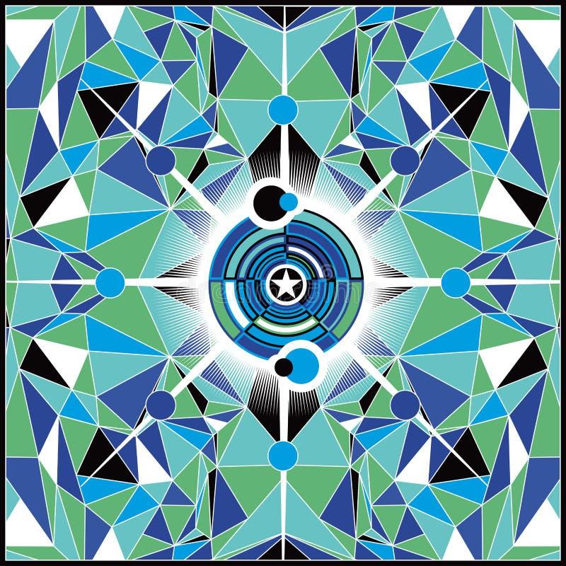 Fond d'abrégé sur vert bleu illustration de vecteur