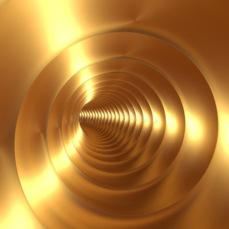 Fond d'abrégé sur vortex d'or illustration de vecteur