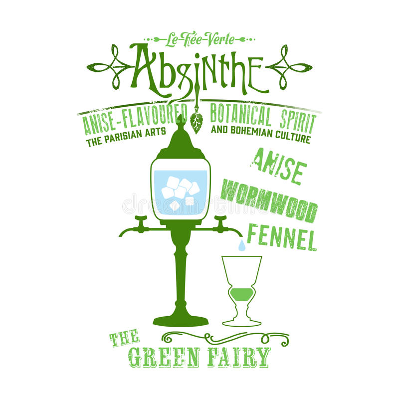 Fond d'absinthe illustration stock