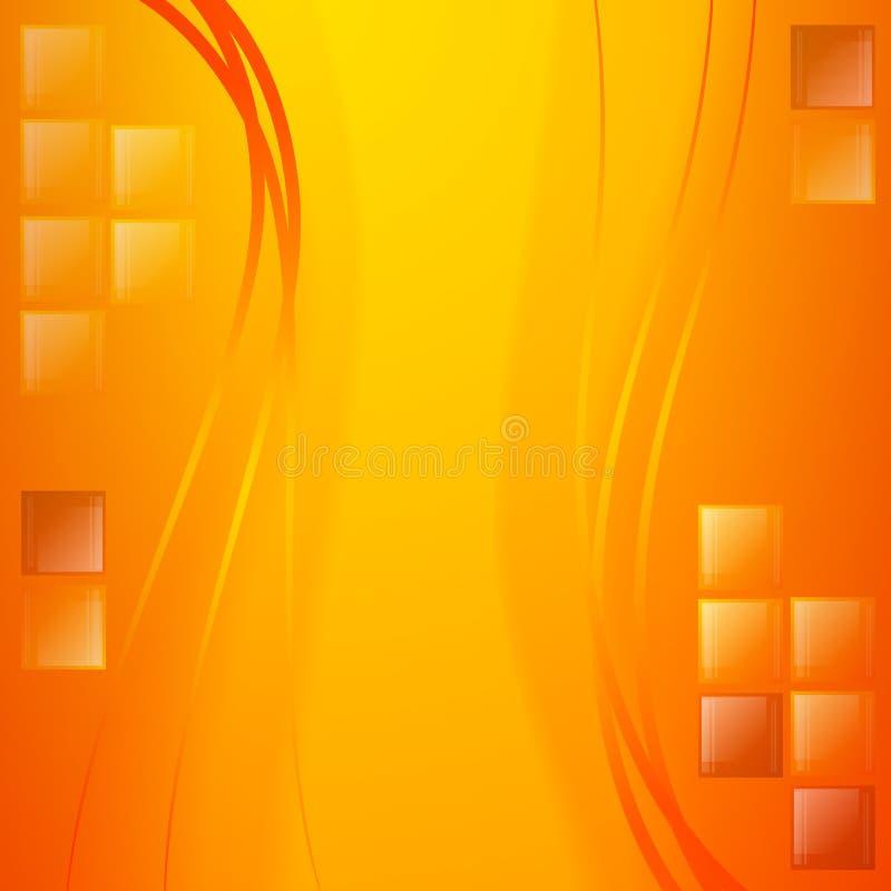 Fond d'or abstrait Couleurs lumineuses et vagues Détails et lumière en verre Fond de célébration illustration de vecteur