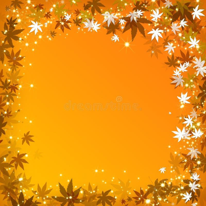 Fond d'or abstrait de lames d'automne image libre de droits