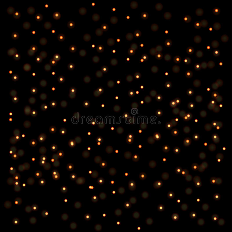Fond d'or abstrait de lumières illustration libre de droits