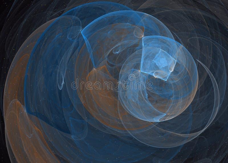 Fond d'Abstrct Pirouette rouge-foncé de Digitals art Technologies de graphique de fractale illustration de vecteur
