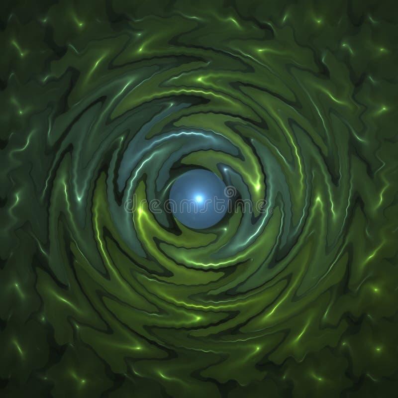 Fond d'Abstrct Pirouette rouge-foncé de Digitals art Technologies de graphique de fractale illustration libre de droits
