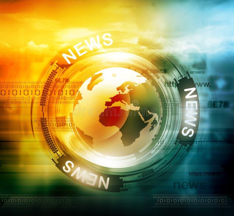 Fond d'actualités de Digital illustration de vecteur