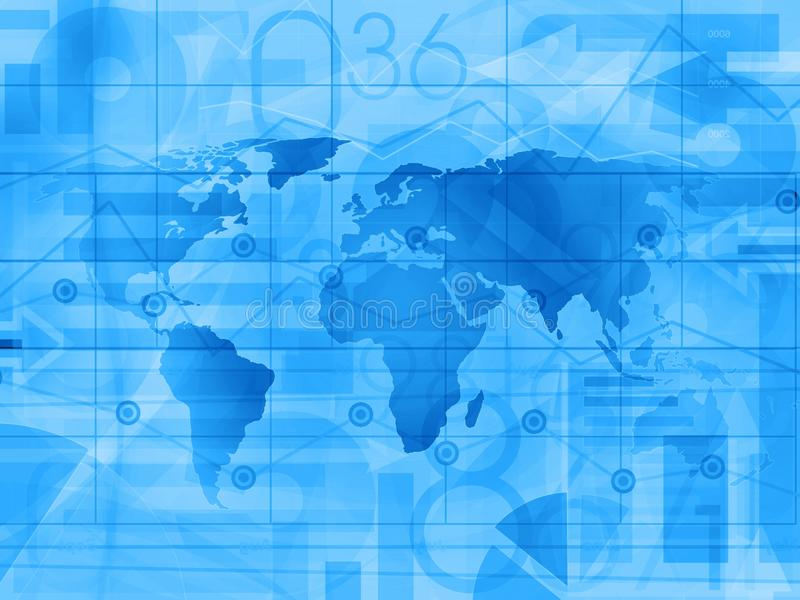 Fond d'actualités financières d'affaires du monde illustration de vecteur