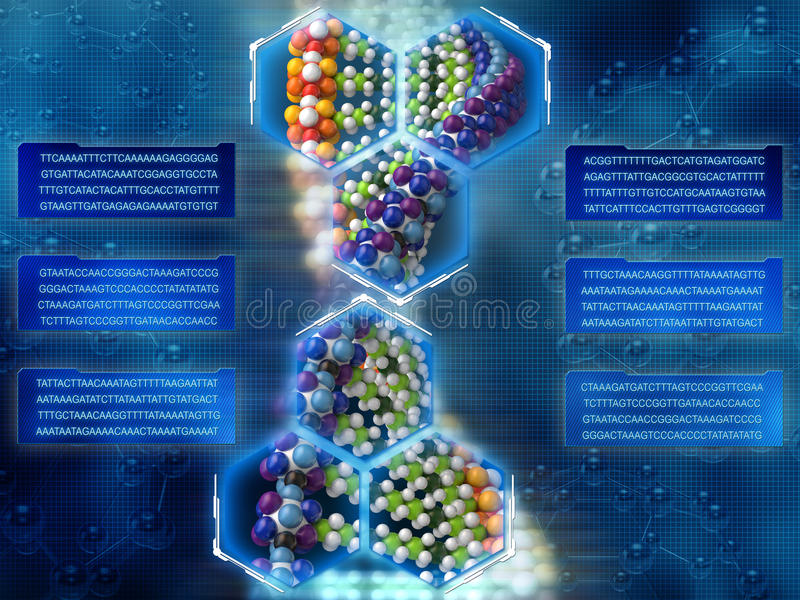 Fond d'ADN photos stock