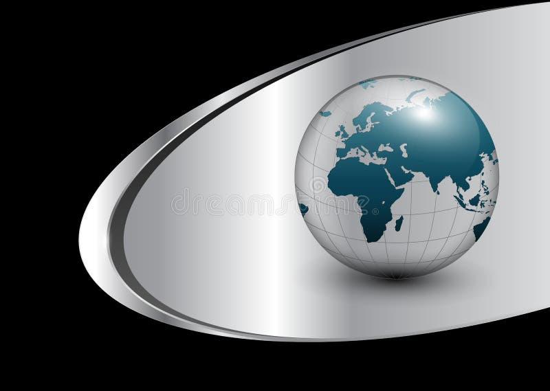 Fond d'affaires avec le globe du monde illustration libre de droits