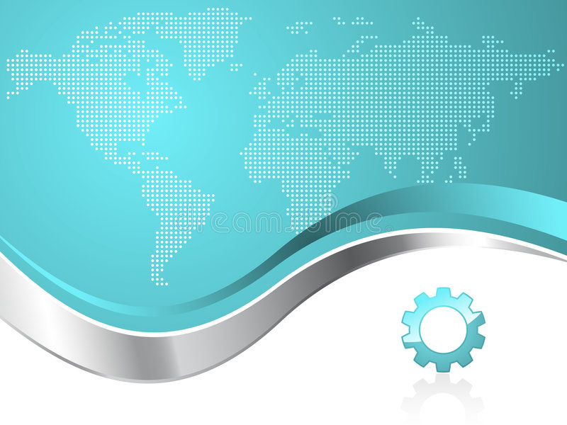 Fond d'affaires de trains de carte du monde illustration libre de droits