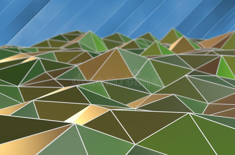 fond d'affaires de triangle illustration libre de droits