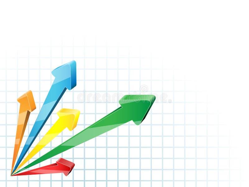 fond d'affaires des flèches 3D illustration de vecteur