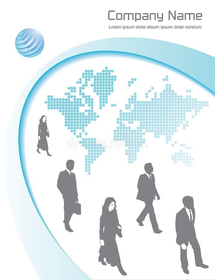 Fond d'affaires globales illustration libre de droits