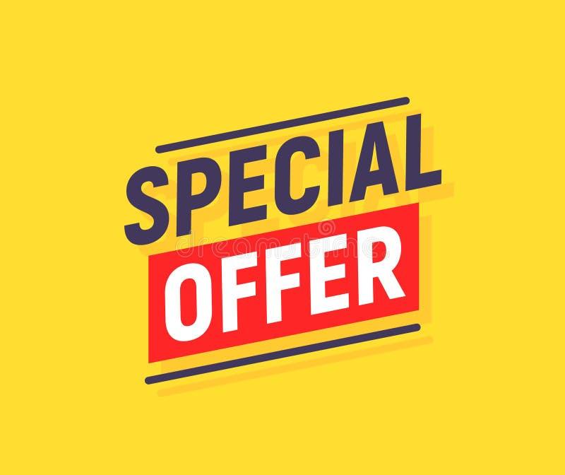 Fond d'affiche de bannière d'offre spéciale Conception de calibre d'offre de promotion des ventes Promo jaune de remise des prix  illustration de vecteur