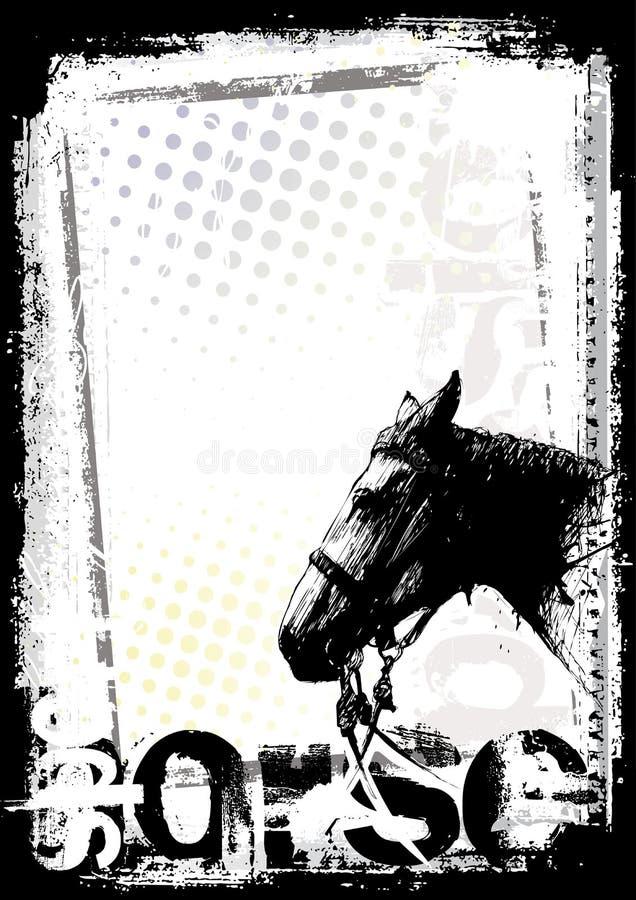 Fond d'affiche de cheval illustration de vecteur