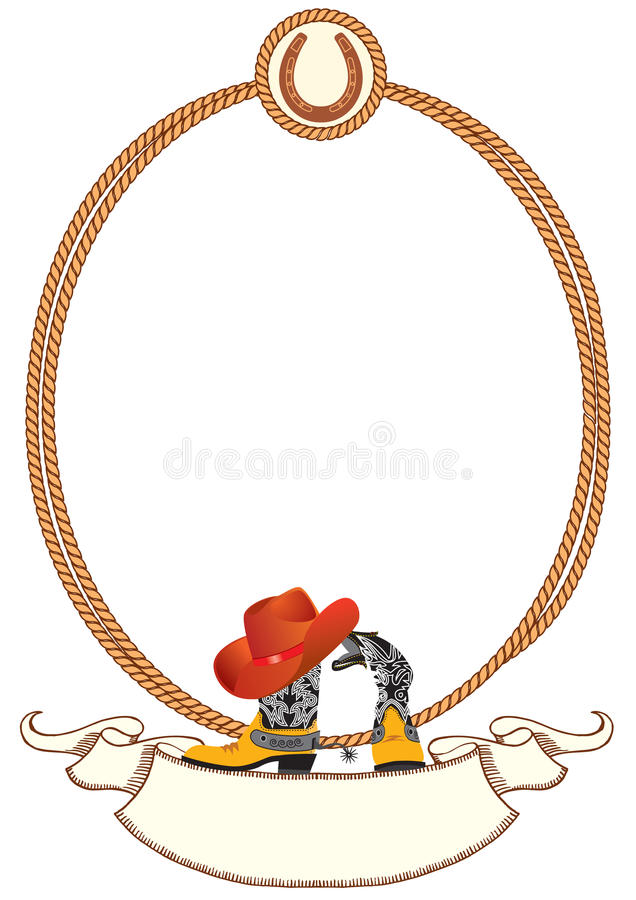 Fond d'affiche de cowboy illustration stock