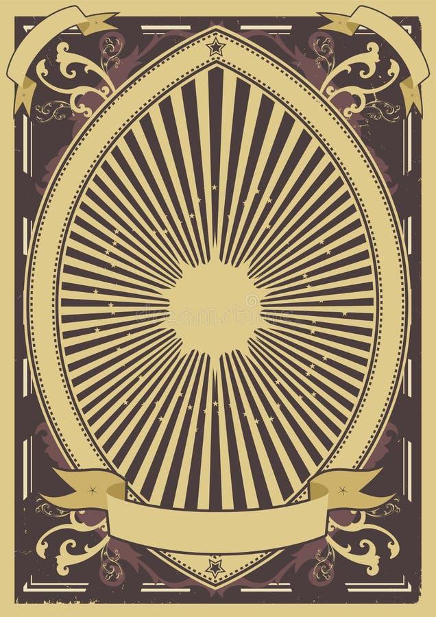 Fond d'affiche de cru illustration de vecteur