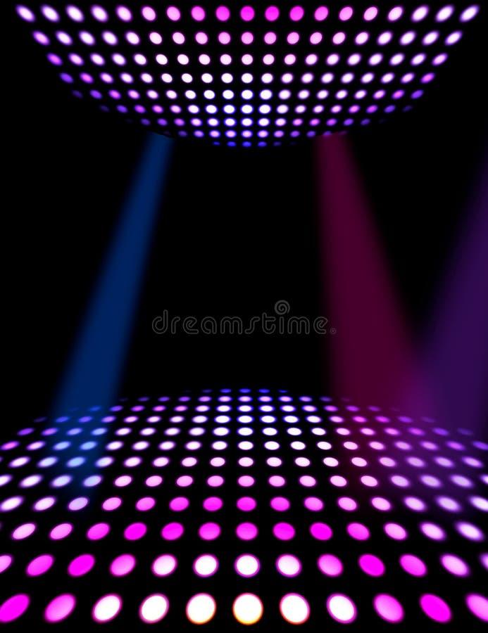Fond d'affiche de disco de piste de danse illustration de vecteur