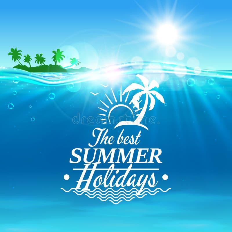 Fond d'affiche de voyage de vacances d'été illustration libre de droits