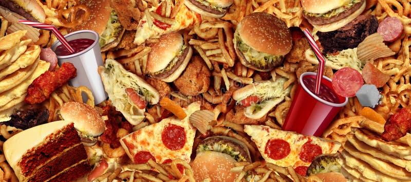 Fond d'aliments de pr?paration rapide illustration libre de droits