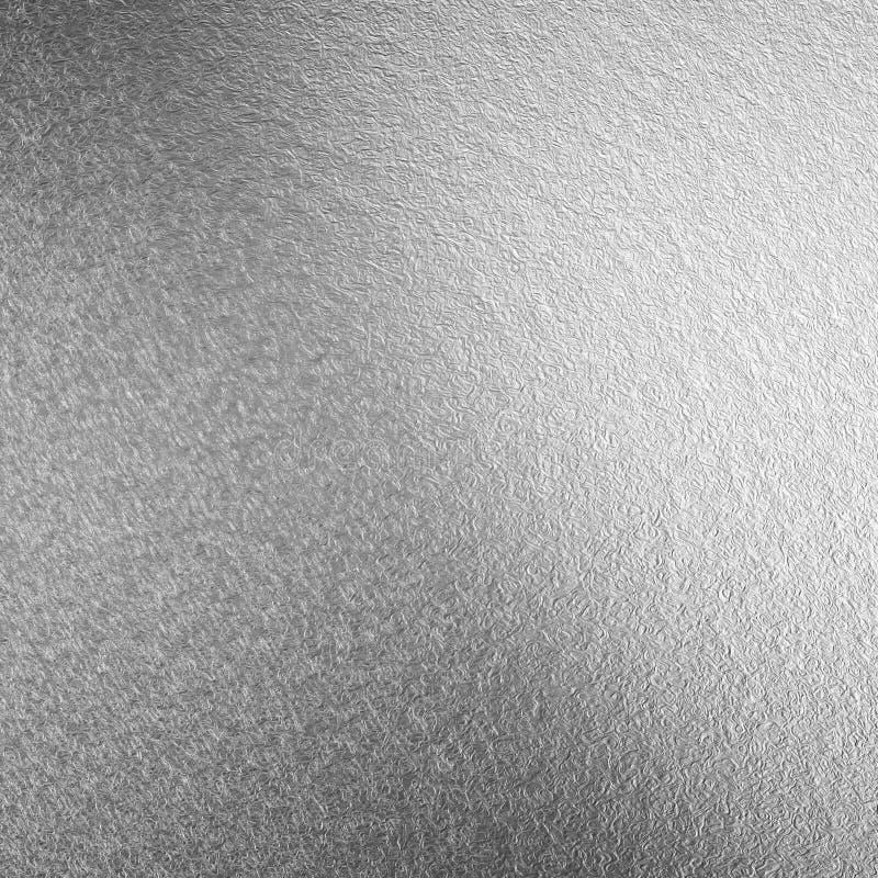 Fond d'aluminium argenté, texture argentée, papier peint argenté Papier peint métallique pour imprimer, conception des cartes pos illustration libre de droits