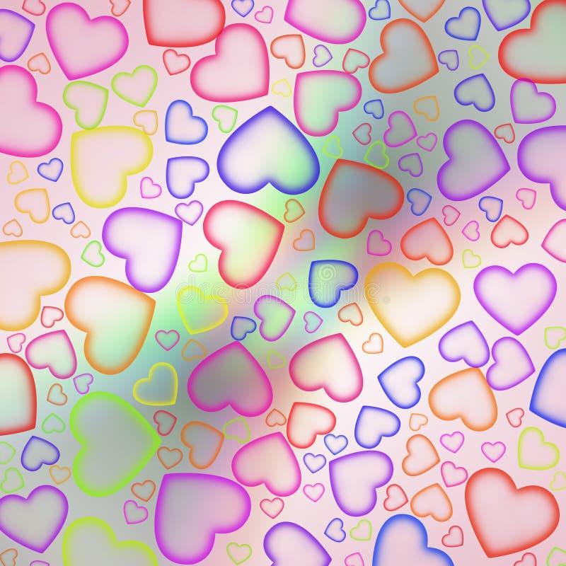 Fond d'amour illustration stock