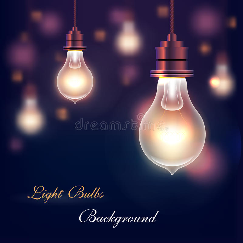 Fond d'ampoules illustration libre de droits