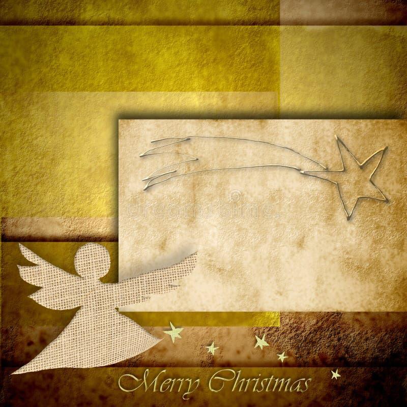 Fond d'Angel Christmas avec l'espace pour l'inscription illustration de vecteur