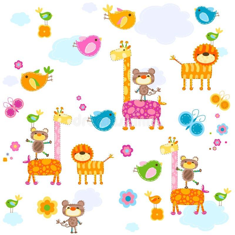 Fond d'animaux illustration de vecteur