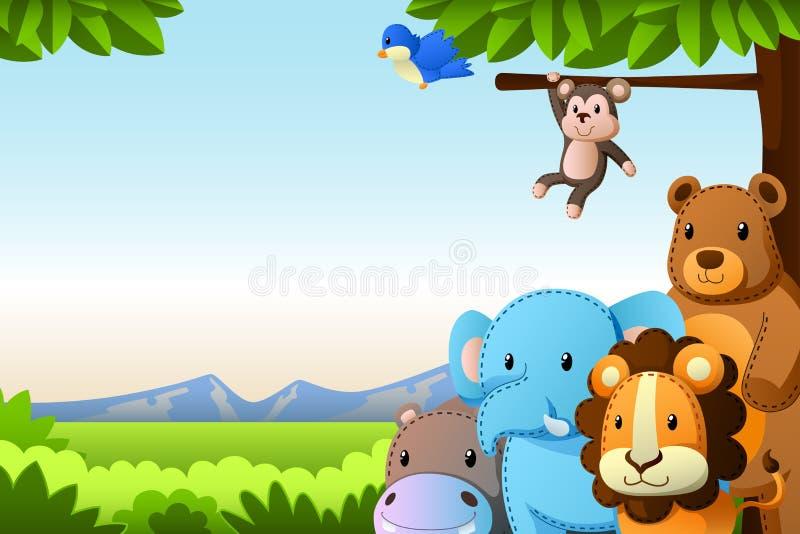 Fond d'animaux sauvages illustration de vecteur