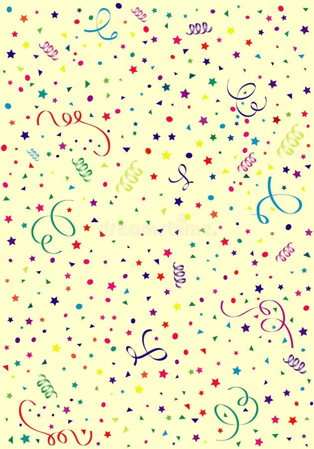 Fond d'anniversaire illustration de vecteur
