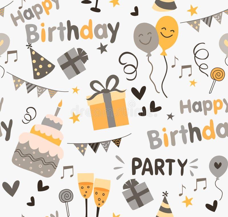 Fond d'anniversaire illustration libre de droits
