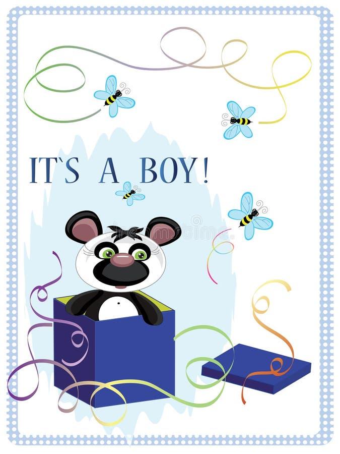 Fond d'anniversaire avec l'ours illustration de vecteur
