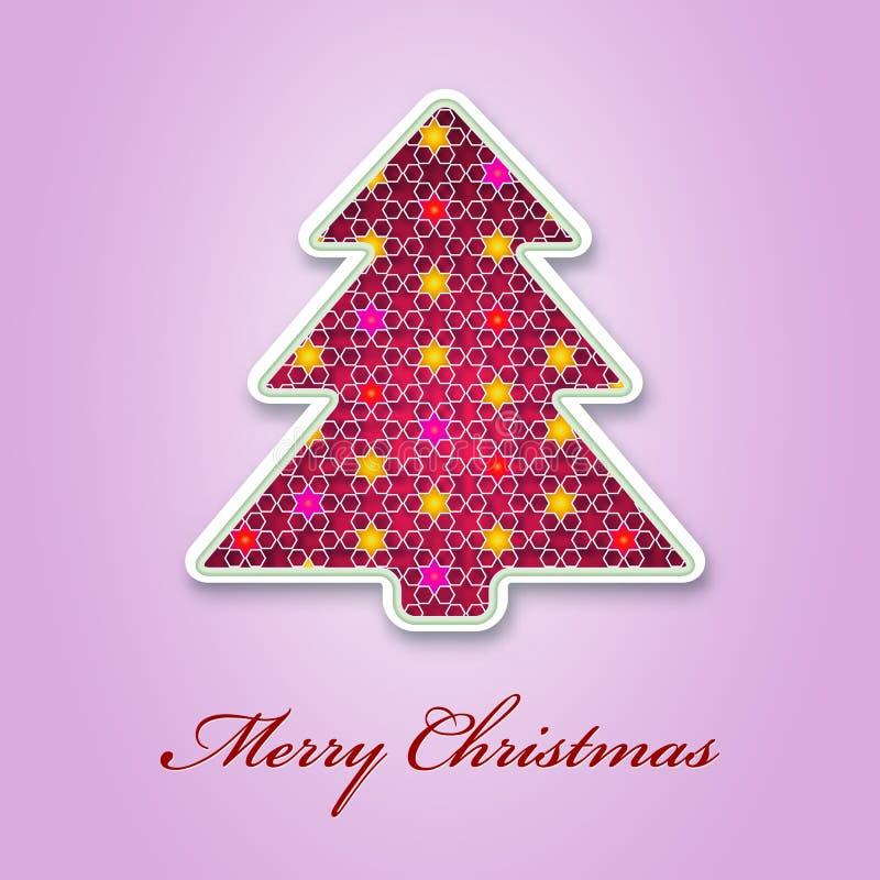 Fond d'applique d'arbre de Noël. illustration de vecteur