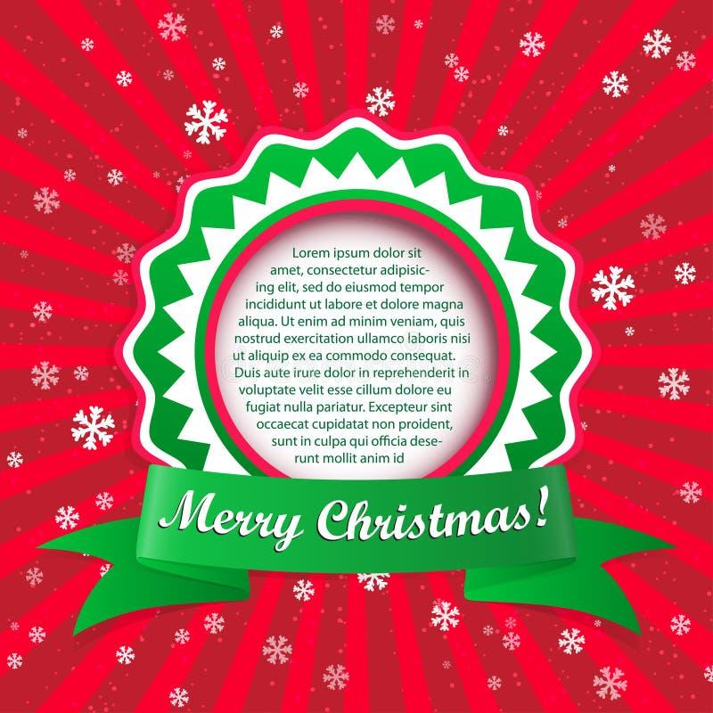 Fond d'applique de Noël. Illustration de vecteur avec le cadre FO illustration stock