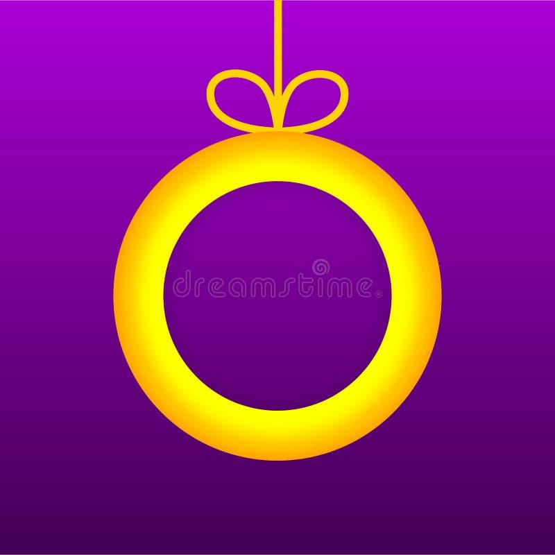 Fond d'Applique de Noël Illustration des cartes de voeux pour votre conception Illustration de vecteur Carte postale de boule de  illustration de vecteur
