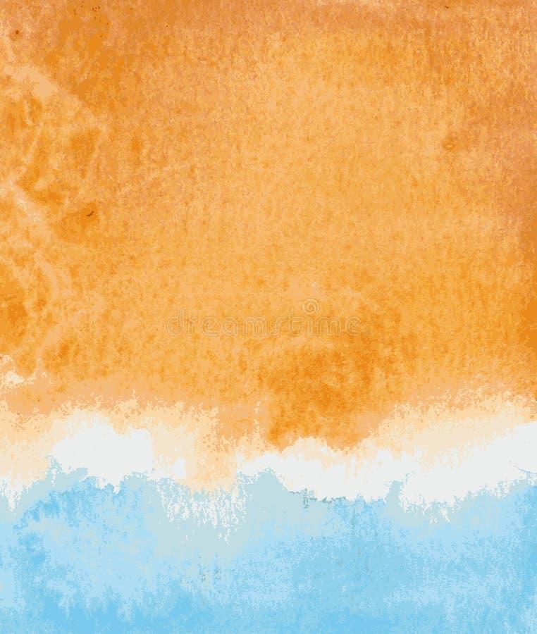 Fond d'aquarelle illustration de vecteur