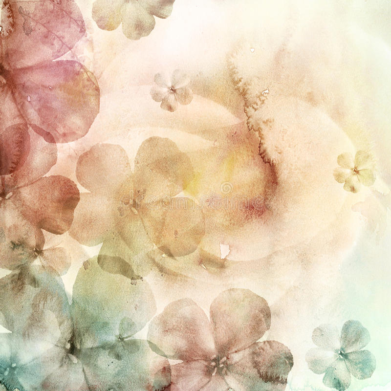 Fond d'aquarelle avec des fleurs illustration de vecteur