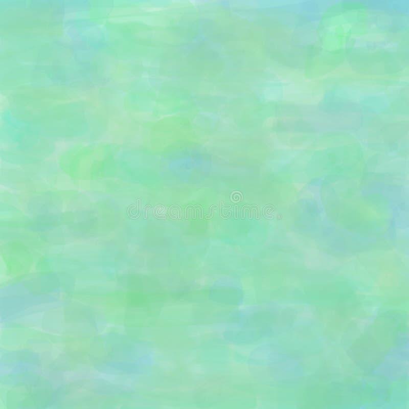 Fond d'aquarelle avec des traçages dans des couleurs de turquoise illustration stock