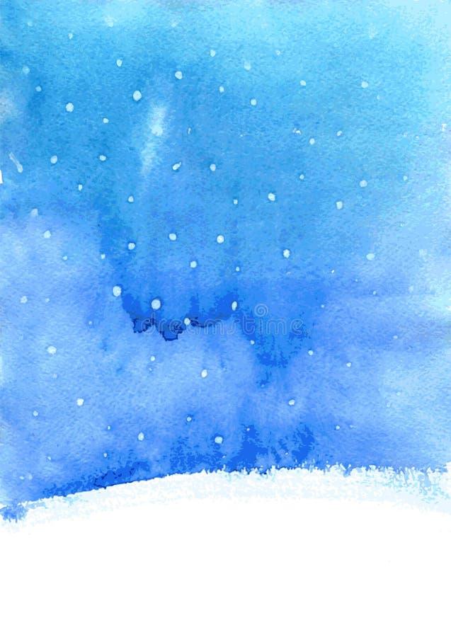 Download Fond D'aquarelle Avec La Neige Illustration de Vecteur - Illustration du beau, retrait: 56486926