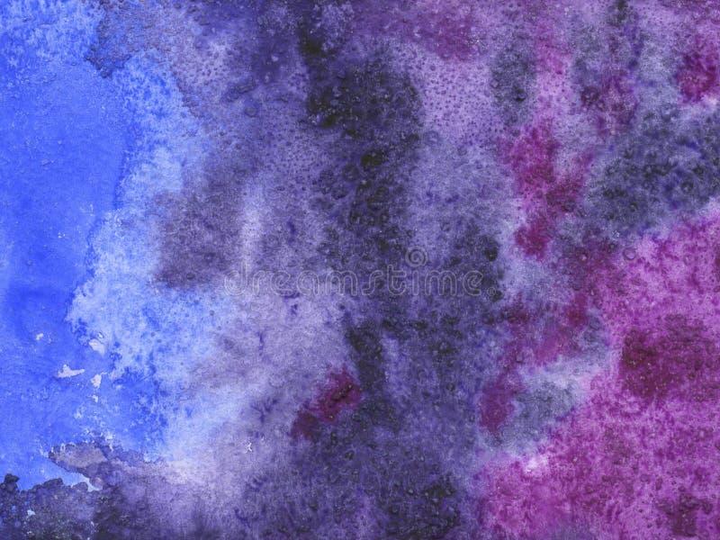 Fond d'aquarelle avec la texture de papier image libre de droits