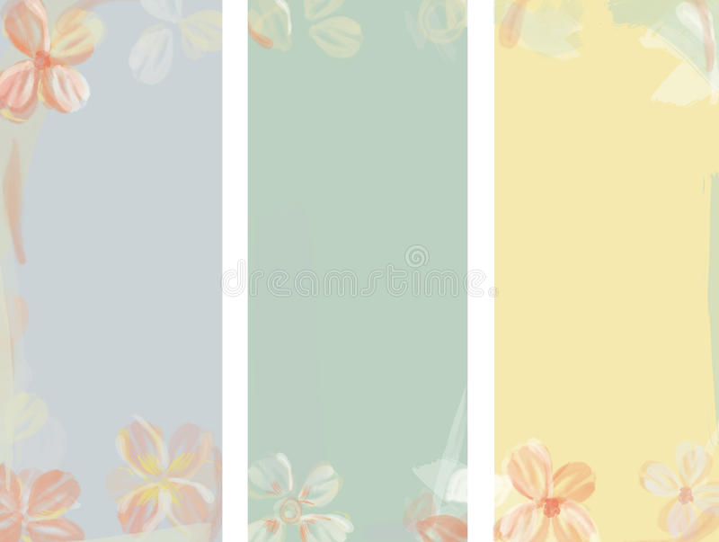 Fond d'aquarelle de fleur illustration de vecteur