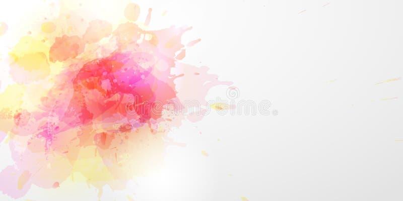 Fond d'aquarelle de vecteur image stock