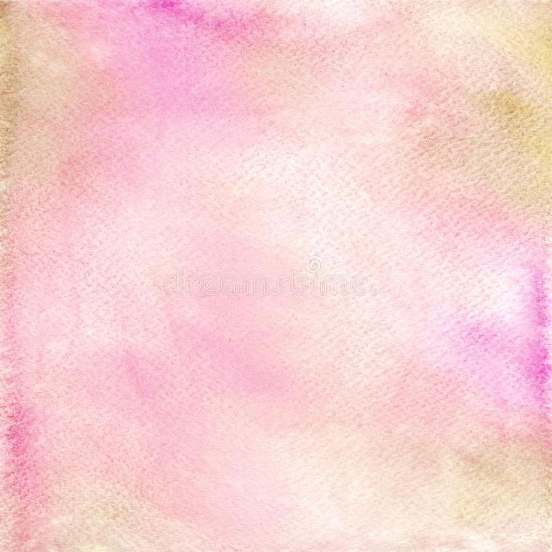 Fond d'aquarelle peint par r?sum? sur la texture de papier illustration stock