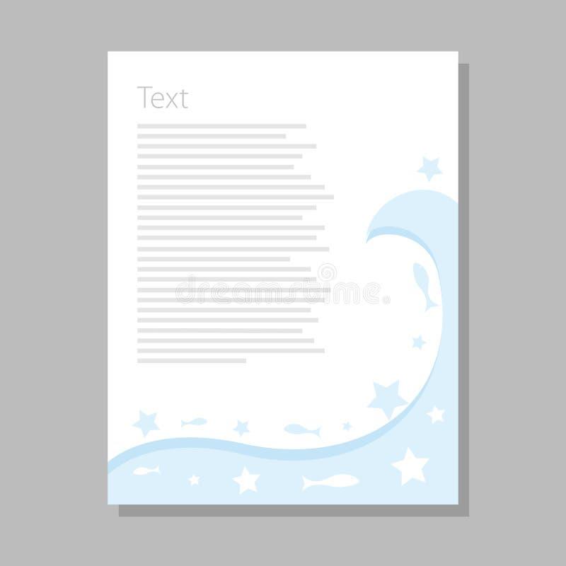 Fond d'aquarelle Texture abstraite colorée Éléments de conception de vecteur Fond de cru Calibre de la publicité d'art L'eau bleu illustration libre de droits