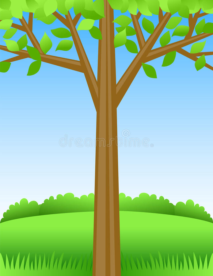 Fond d'arbre d'été illustration stock